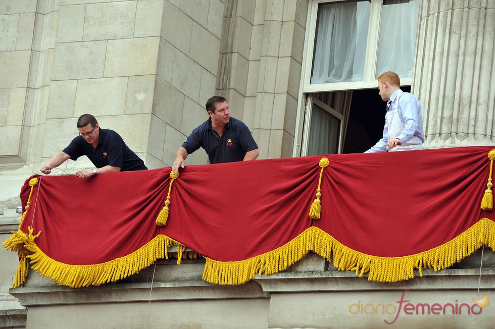 Preparativos de la boda Real: Balón del Buckhiham Palace