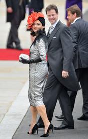 Nick Clegg y Miriam Gonzalez llegan a la Abadía de Westminster