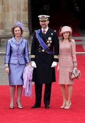 Los Príncipes de Asturias y la Reina de España llegan a la Abadía de Westminster