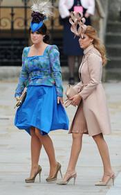 Las Princesas Eugenia y Beatriz de York llegan a la Abadía de Westminster