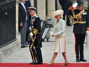 El Príncipe Carlos y Camila Parker llegan a la Abadía de Westminster