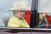 La Reina Isabel II a su llegada a la Abadía de Westminster
