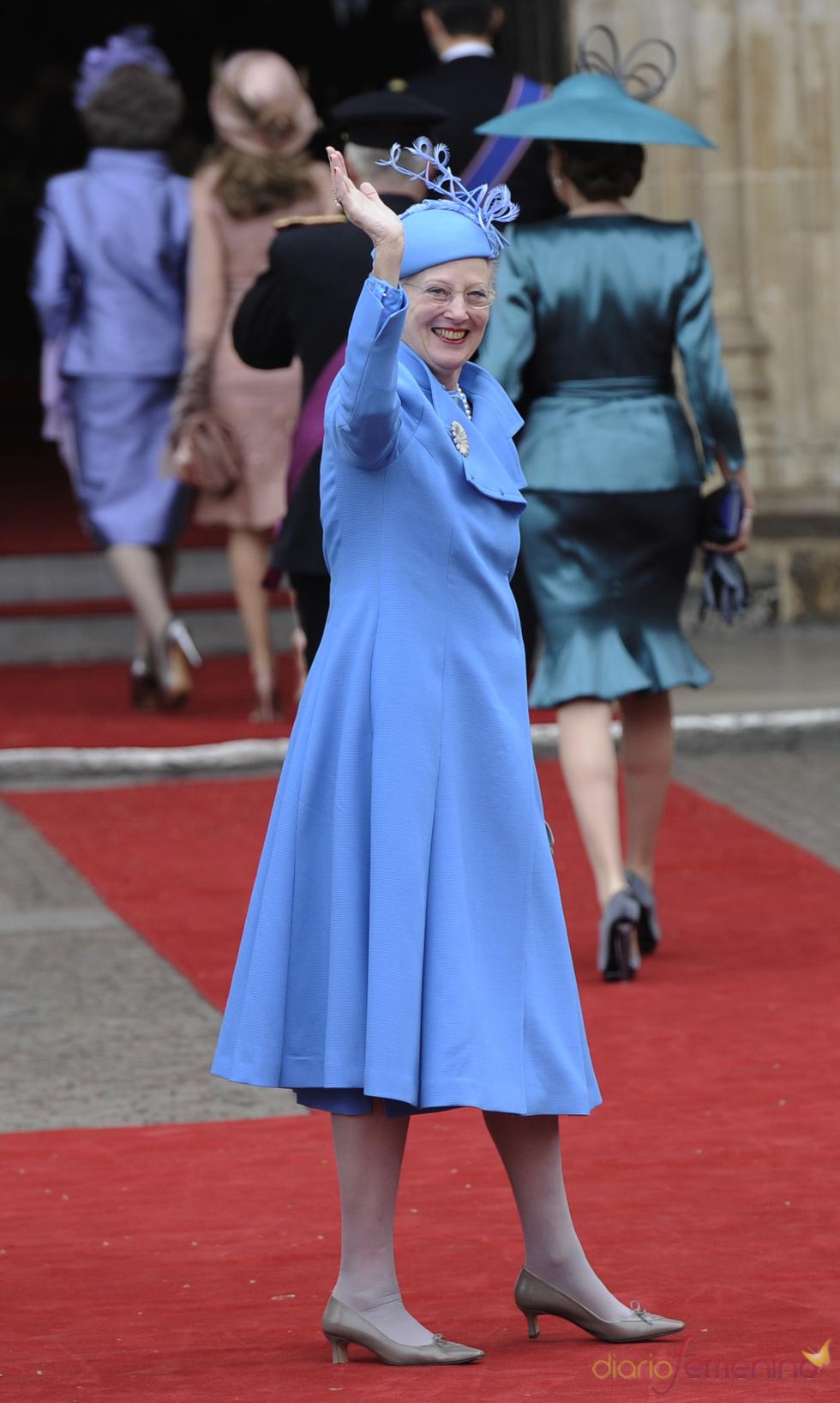 Margarita de Dinamarca en la Boda Real de Inglaterra