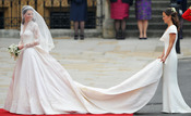 La novia, Kate Middleton entra en la Abadía de Westminster