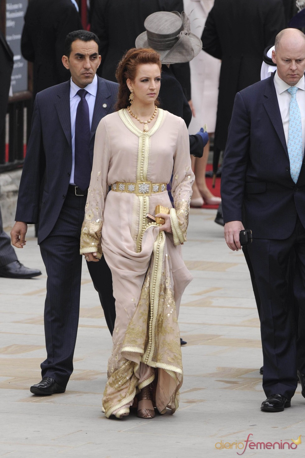 La Princesa Lala Salma de Marruecos a la salida de la Abadía de Westminster