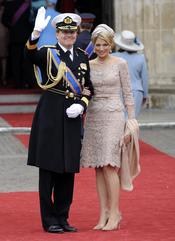 Guillermo y Máxima de Holanda asisten a la Boda Real de Inglaterra