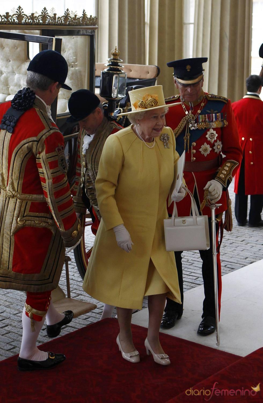 La Reina Isabel II en la Boda Real de Inglaterra