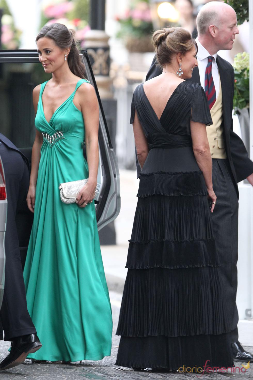 Pippa y Carole Middleton en la fiesta privada de la Boda Real
