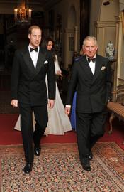 Carlos de Inglaterra y Guillermo de Inglaterra en la fiesta privada de la Boda Real
