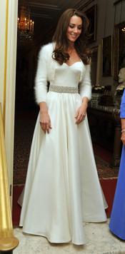 Segundo vestido de novia de Kate Middleton para la fiesta privada de la Boda Real