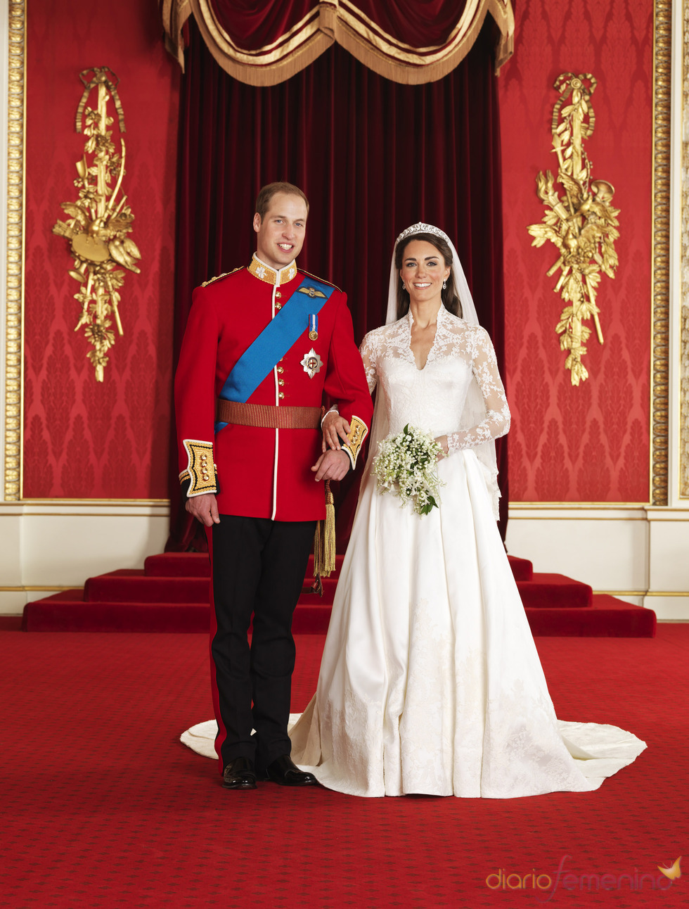 Kate Middleton y el príncipe Guillermo, retrato oficial de la Boda Real