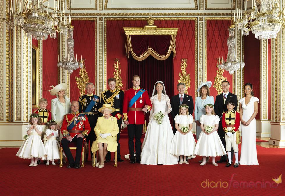 Fotos oficiales de la Boda Real: Los Middleton y la familia real británica