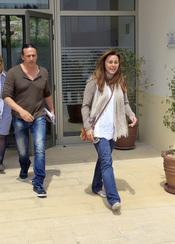 Carmen Morales y Luis Guerra salen del Ayuntamiento de Ibiza