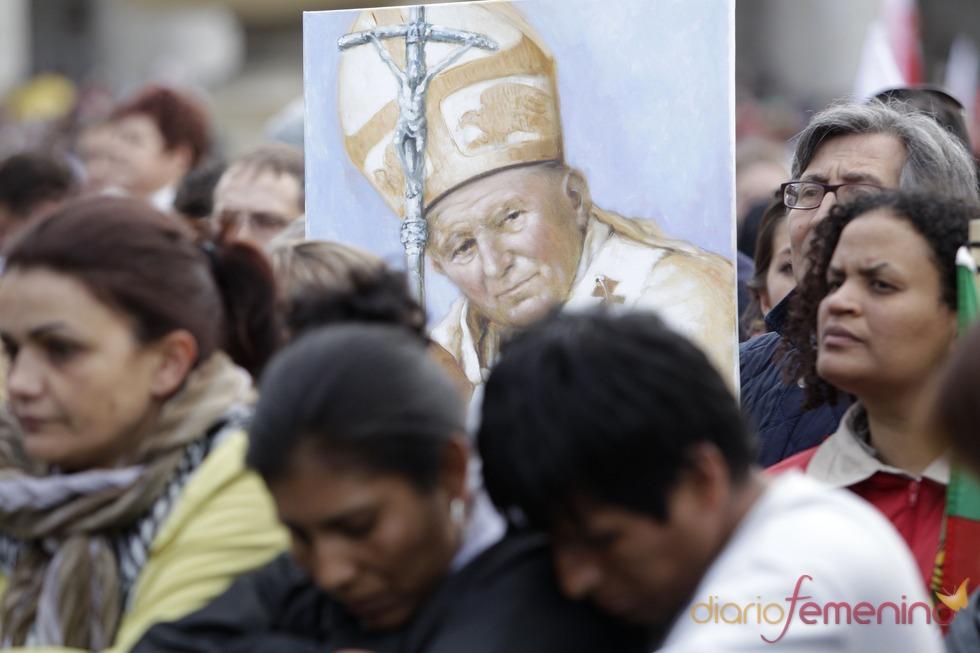 Beatificación de Juan Pablo II: Cartel del beato Juan Pablo