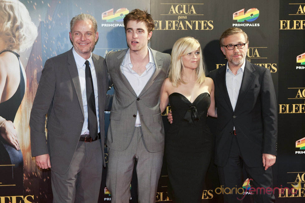 Robert Pattinson, Reese Witherspoon y Christoph Waltz en la premiere en Barcelona de 'Agua para elefantes'