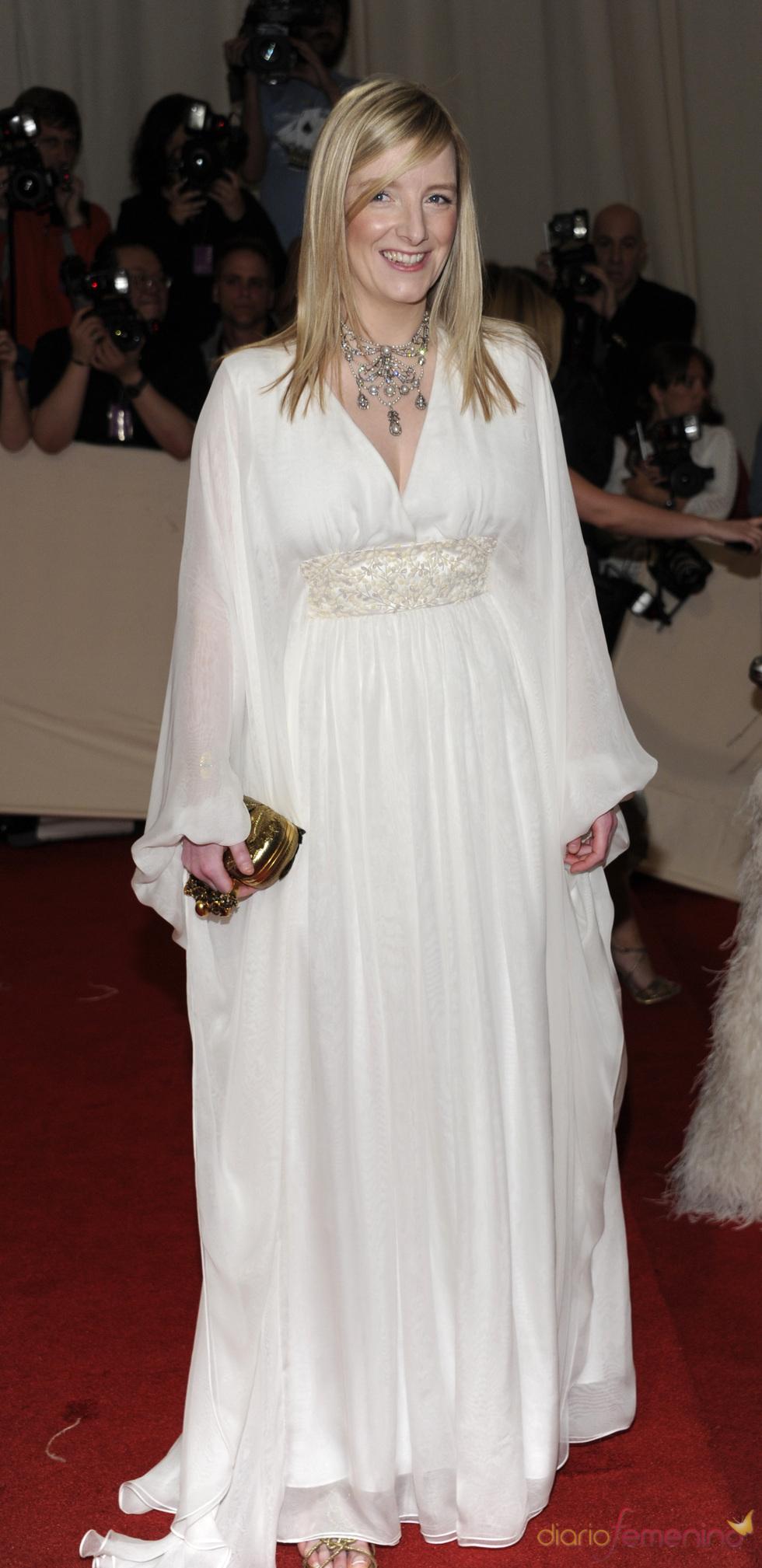 Sarah Burton en la gala Costume en el Museo Metropolitano de Arte
