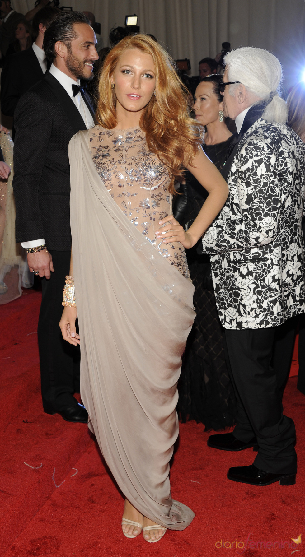 Blake Lively en la gala Costume en el Museo Metropolitano de Arte