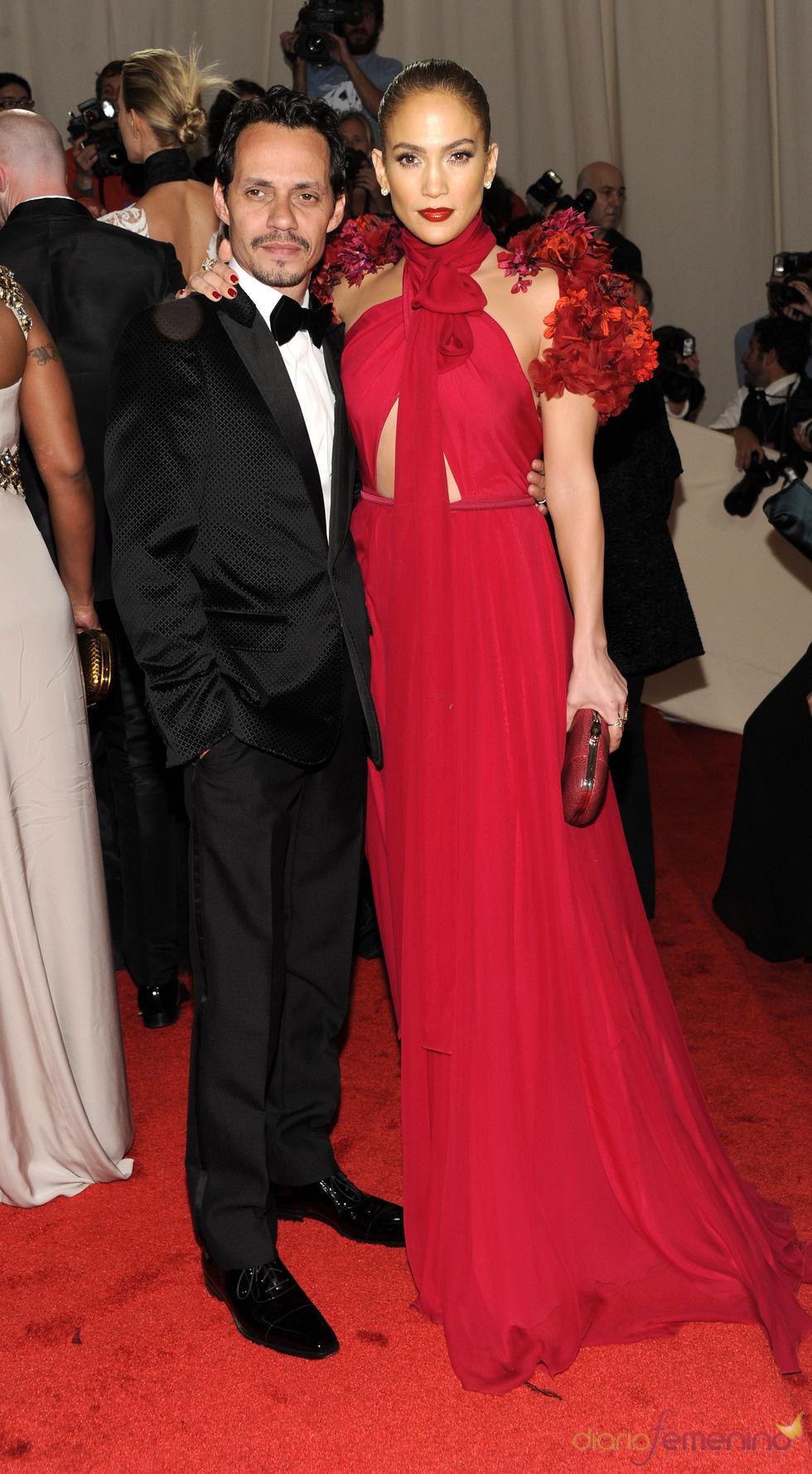Marc Anthony y Jennifer López en la gala Costume en el Museo Metropolitano de Arte