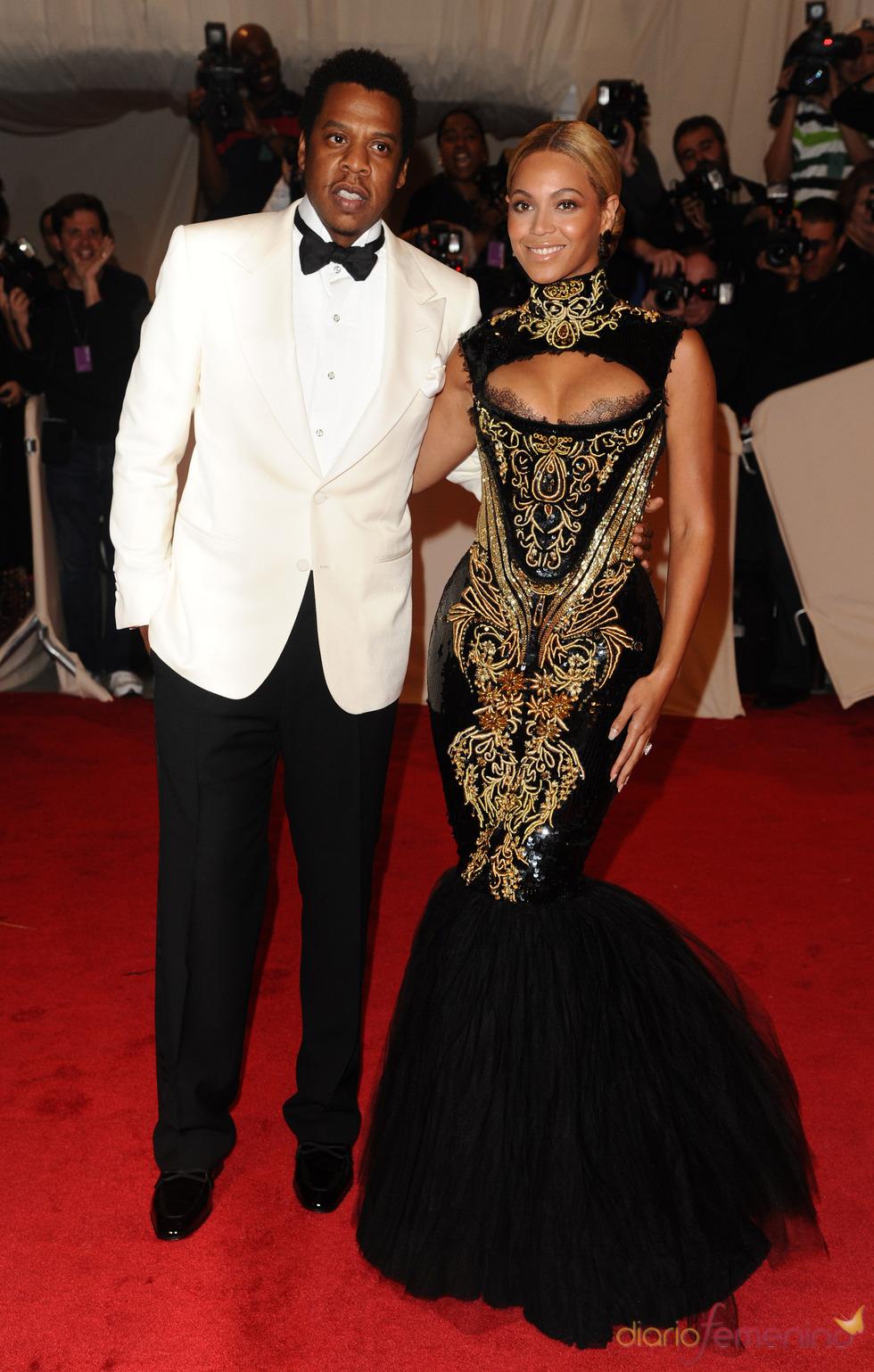 Beyonce y Jay Z en la gala Costume en el Museo Metropolitano de Arte