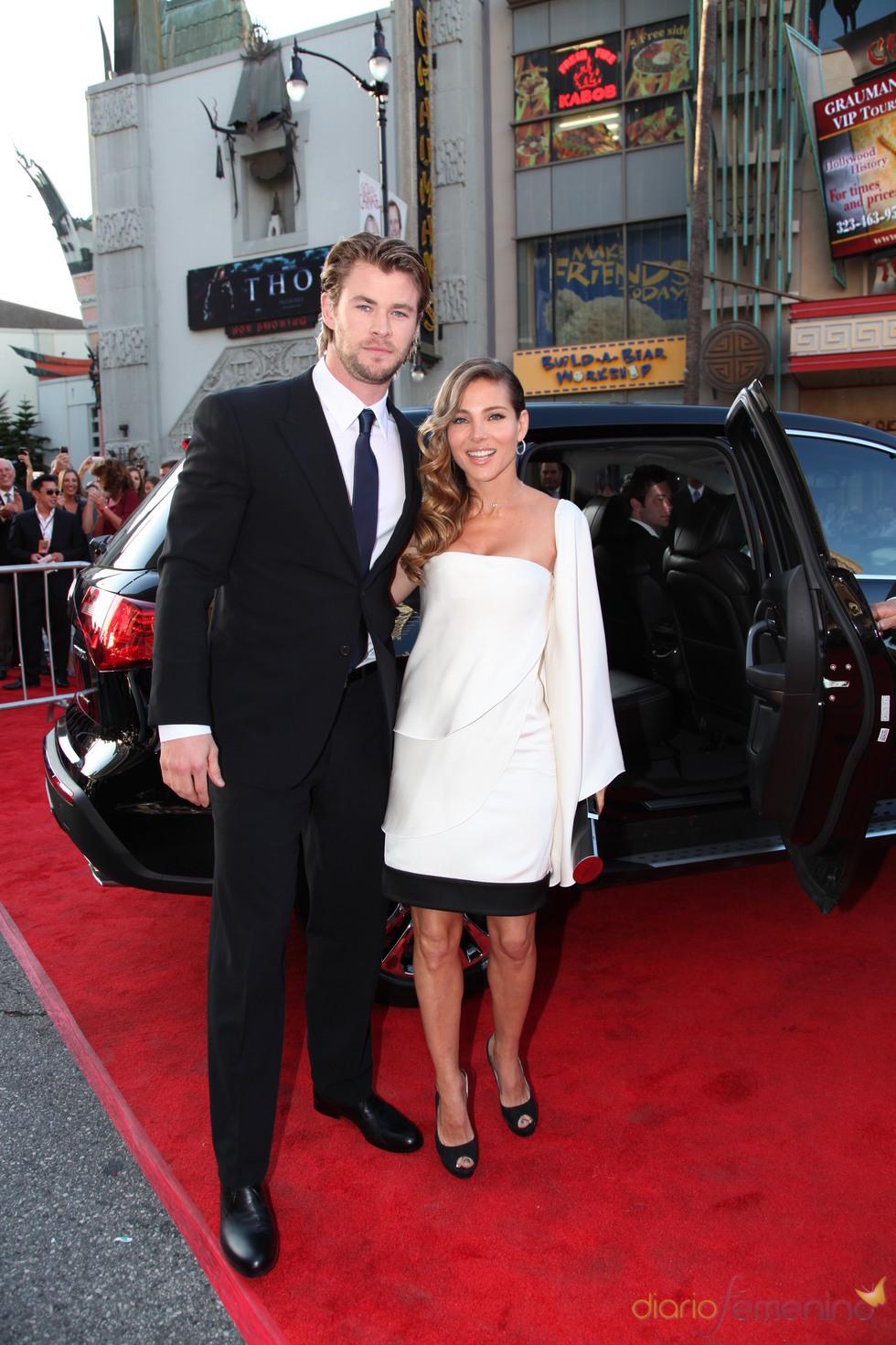 Chris Hemsworth y Elsa Pataky en la presentación de 'Thor' en Nueva York