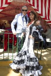 Jaime Ostos y María Ángeles Grajal en la Feria de Abril 2011