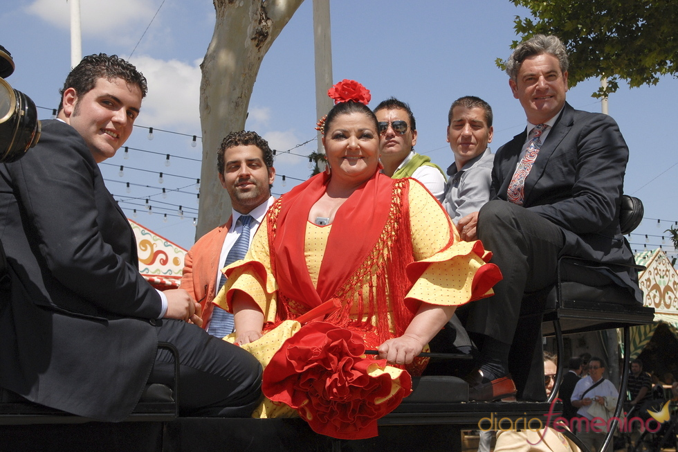 Charo Reina en la Feria de Abril 2011