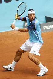 Feliciano López jugando en la 10 edición del Master Series de Madrid