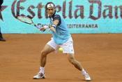 David Ferrer jugando en la 10 edición del Master Series de Madrid