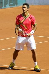 Fernando Verdasco jugando en la 10 edición del Master Series de Madrid