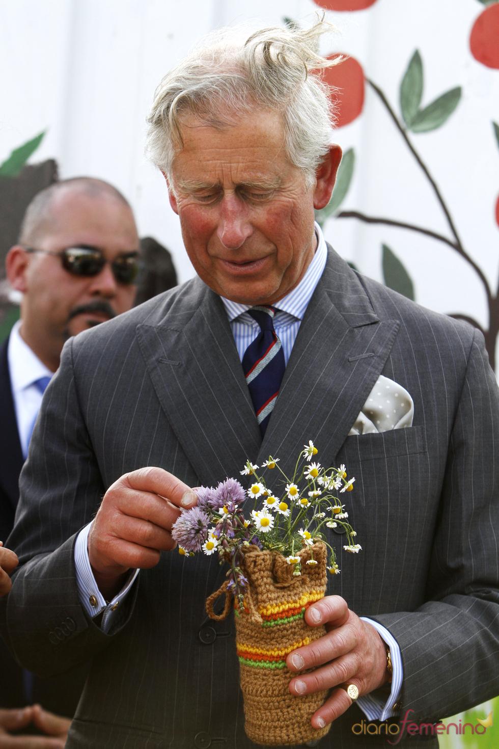 Carlos de Inglaterra de despeina durante su visita a EE.UU.