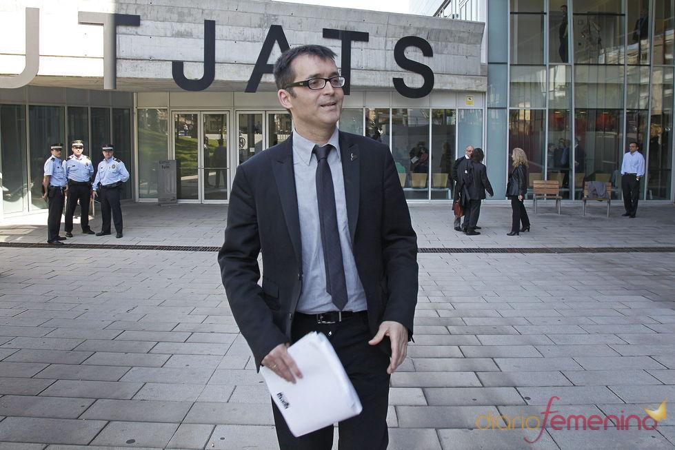 El director del Festival de Sitges, Ángel Sala, a su salida del juzgado