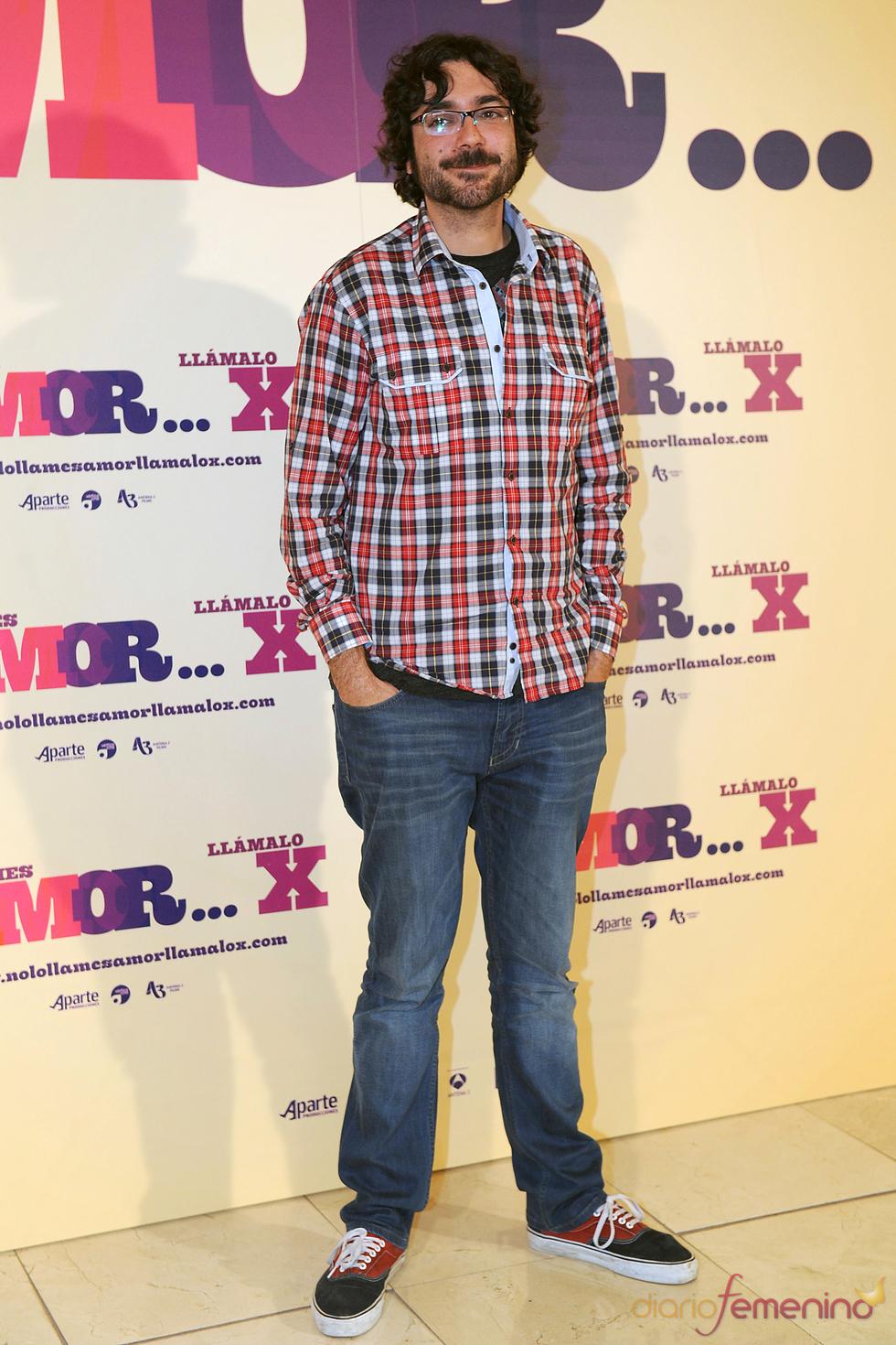 Oriol Capel en la presentación de 'No lo llames amor... llámalo X' en Madrid
