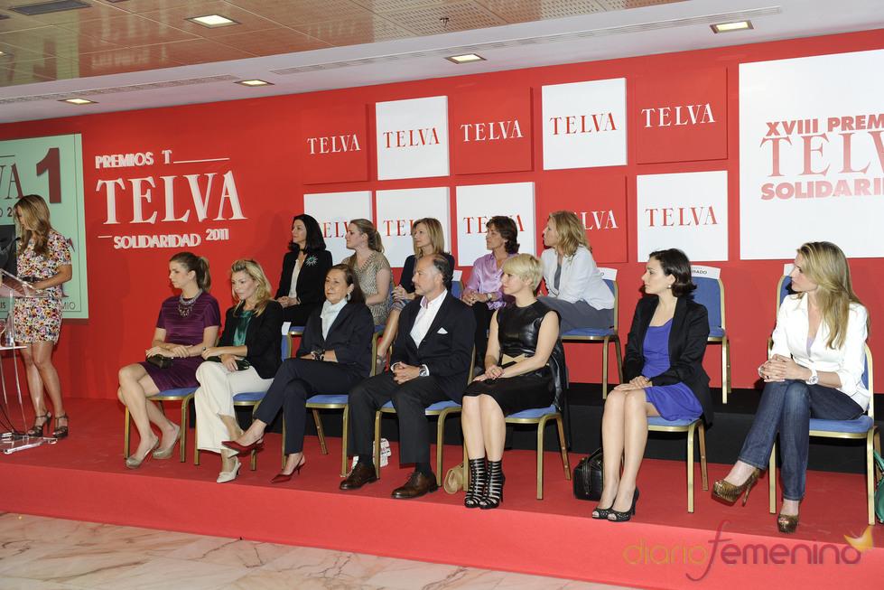 Durante la entrega de premios Telva Solidaridad 2011