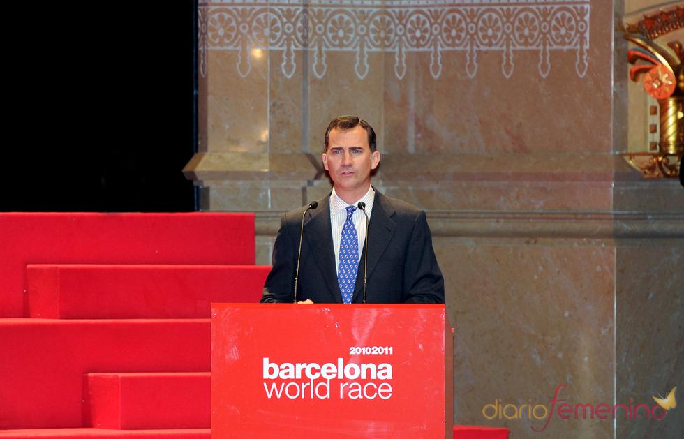 El príncipe Felipe en la segunda edición de los Premios Barcelona World Race
