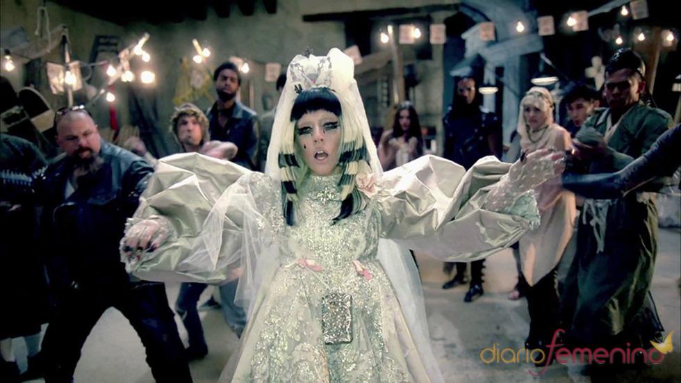Lady Gaga, la novia más tétrica en el videoclip de 'Judas'