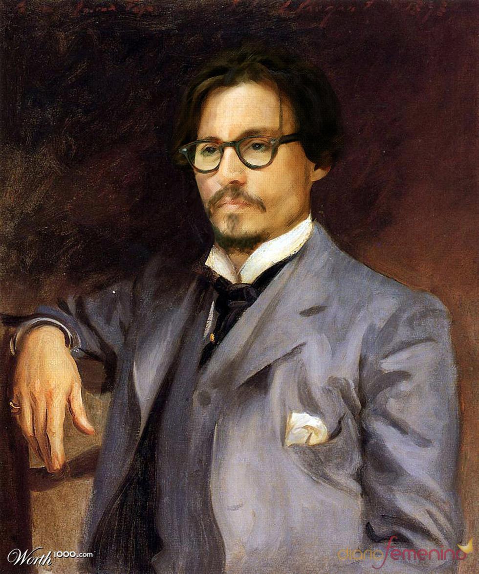 Johnny Depp convertida en arte clásico en Worth1000.com