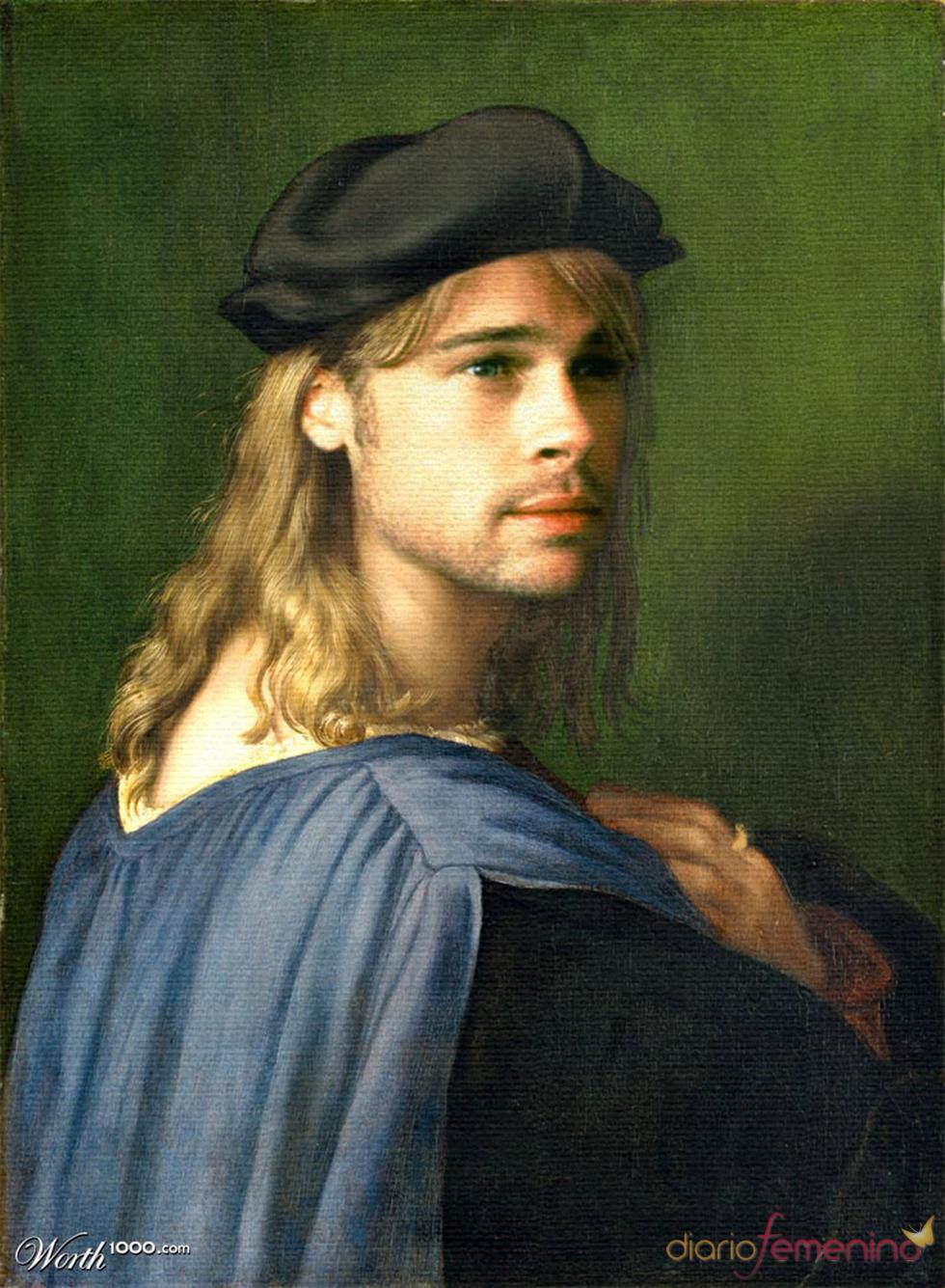 Brad Pitt convertido en arte clásico en Worth1000.com