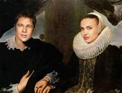 Brangelina convertidos en arte clásico en Worth1000.com