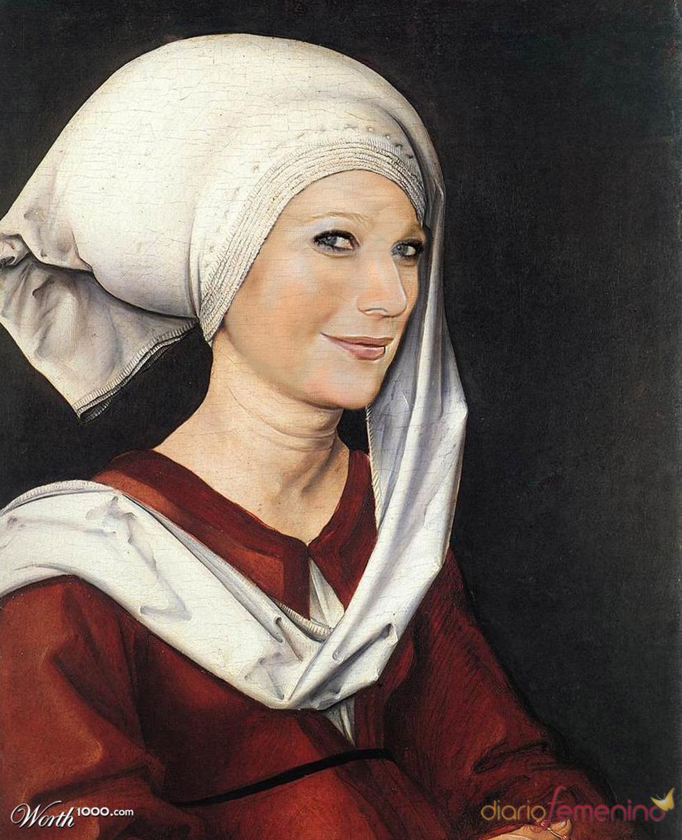 Gwyneth Paltrow convertida en arte clásico en Worth1000.com