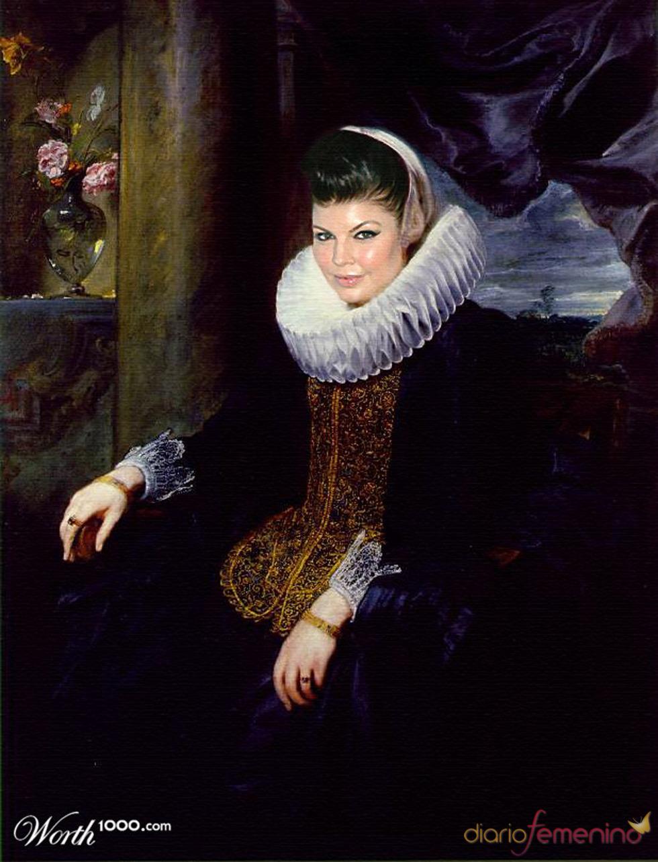 Fergie convertida en arte clásico en Worth1000.com