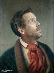 Hugh Laurie convertido en arte clásico en worth1000.com