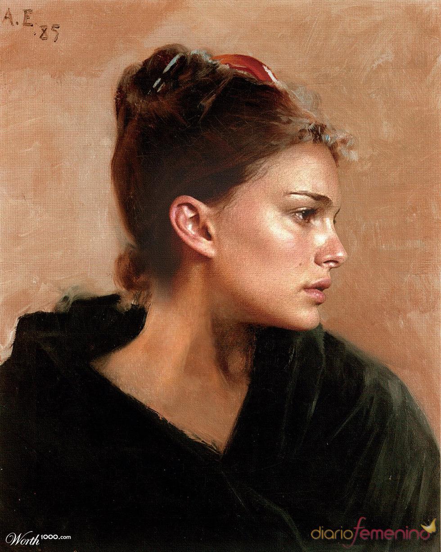 Natalie Portman convertida en arte clásico en Worth1000.com