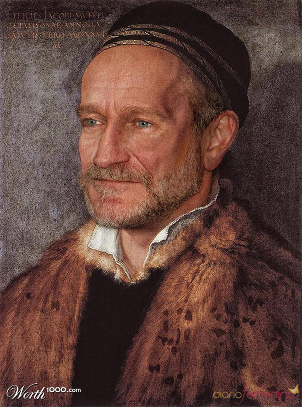 Robin Williams convertido en arte clásico en worth1000.com