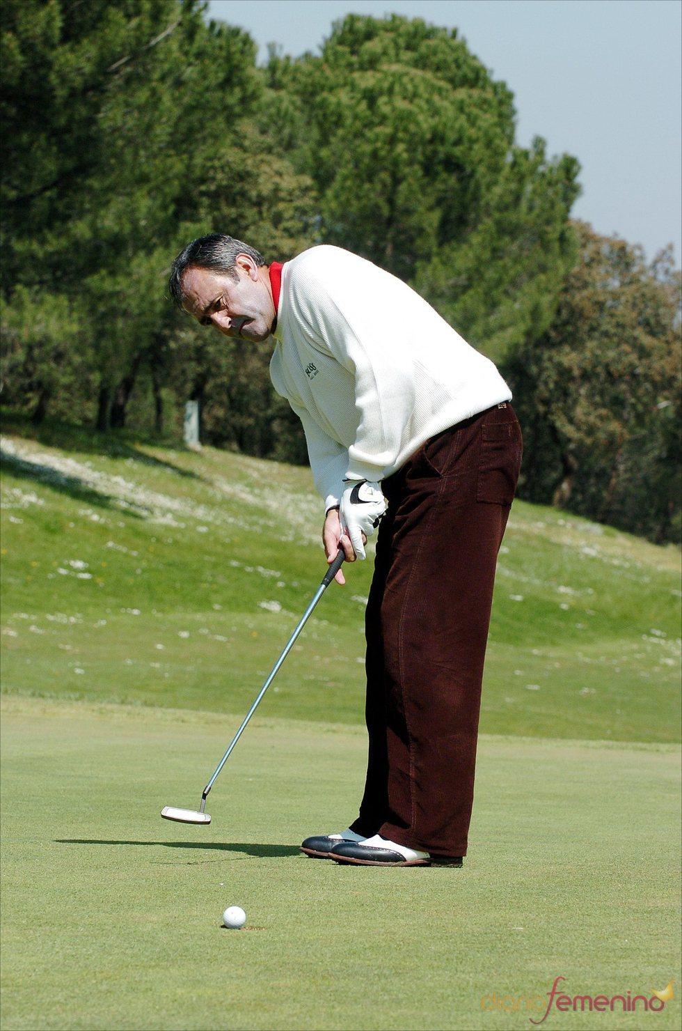 Severiano Ballesteros en el torneo de golf en memoria de las víctimas del 11-M
