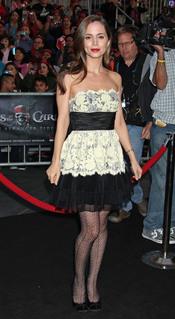 Eliza Dushku en la promoción de 'Piratas del Caribe 4' en Disneyland