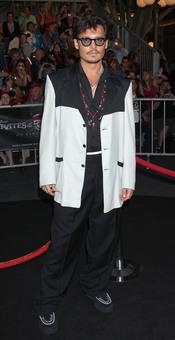 Johnny Depp en la promoción de 'Piratas del Caribe 4' en Disneyland
