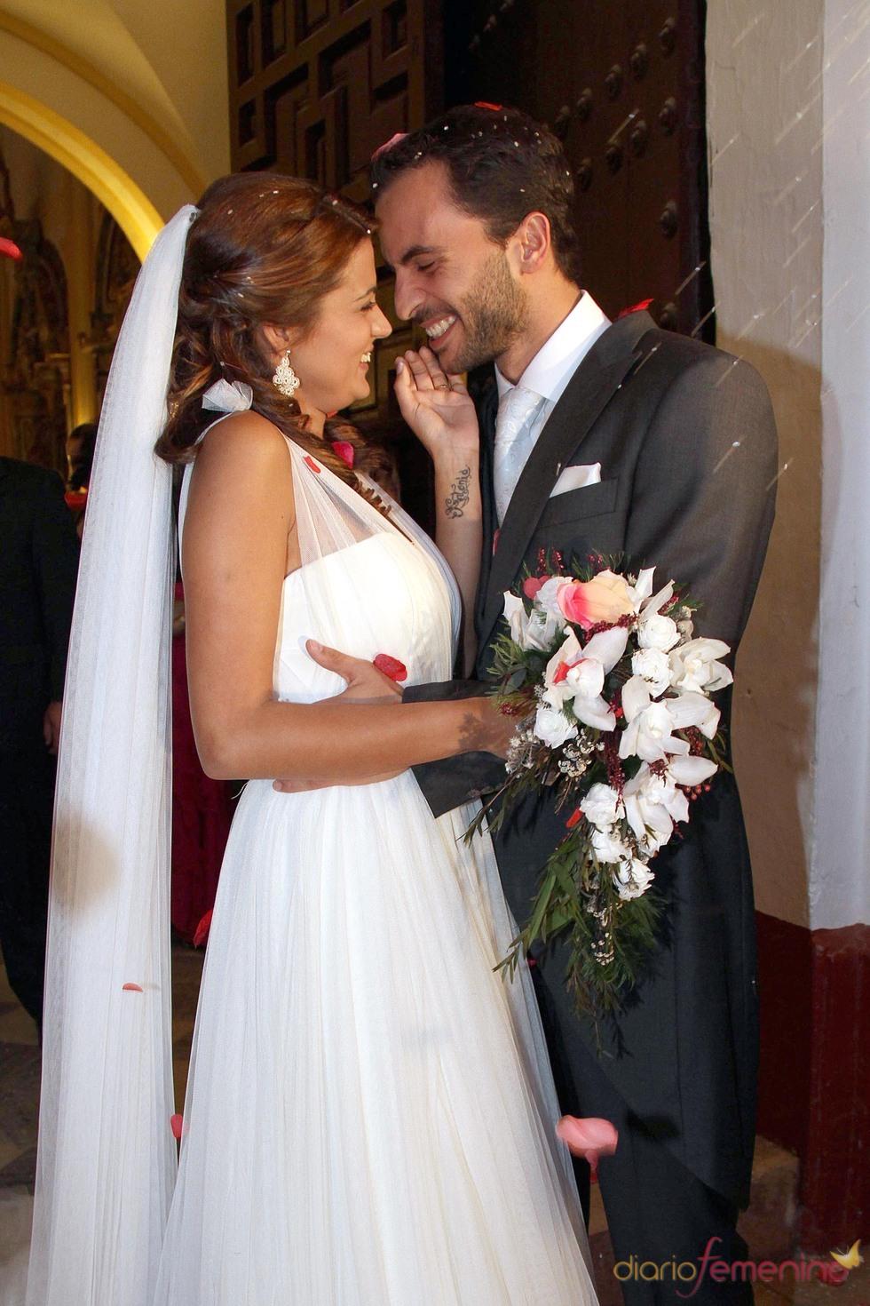 Antonio Tejado y Alba Muñoz, felices recién casados