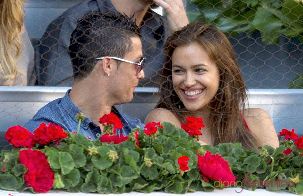 Cristiano Ronaldo e Irina Shayk en la final del Master Series de Madrid