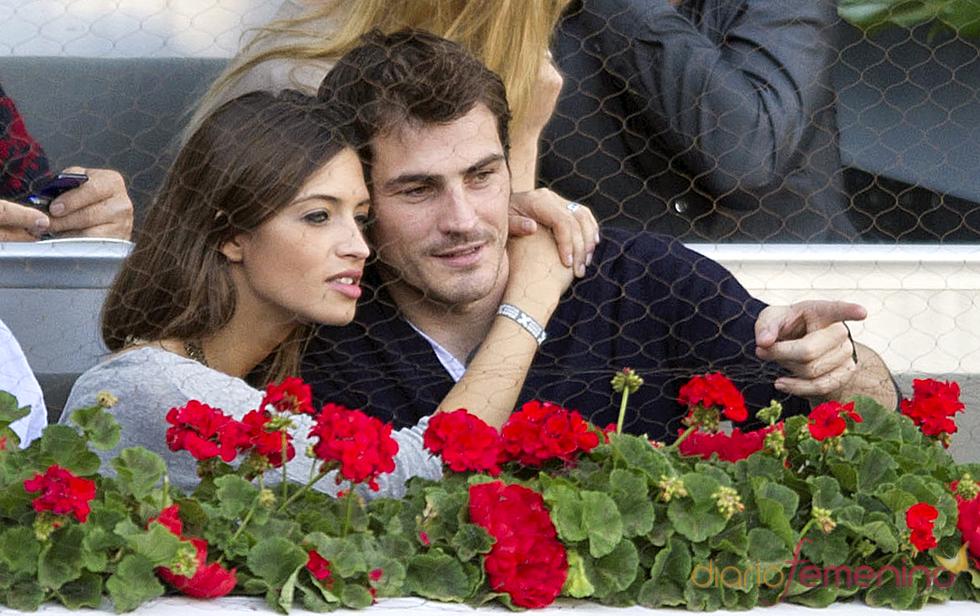Íker Casillas y Sara Carbonero en la final del Master Series de Madrid