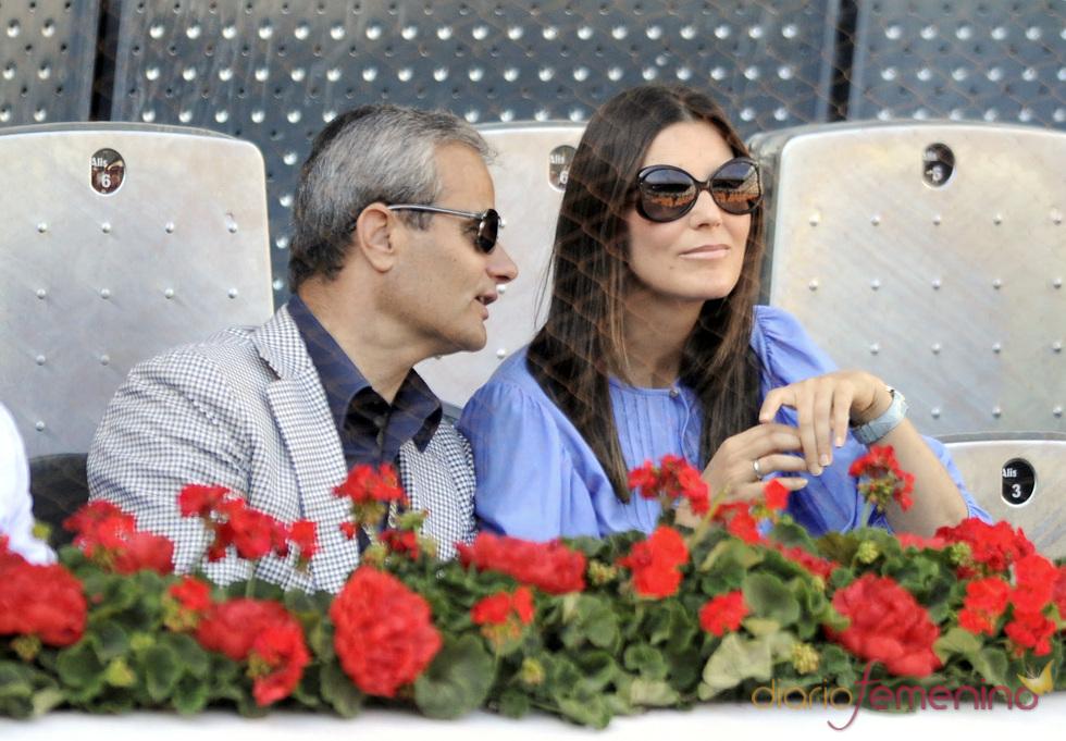 Mar Flores y Javier Merino en la final del Master Series de Madrid